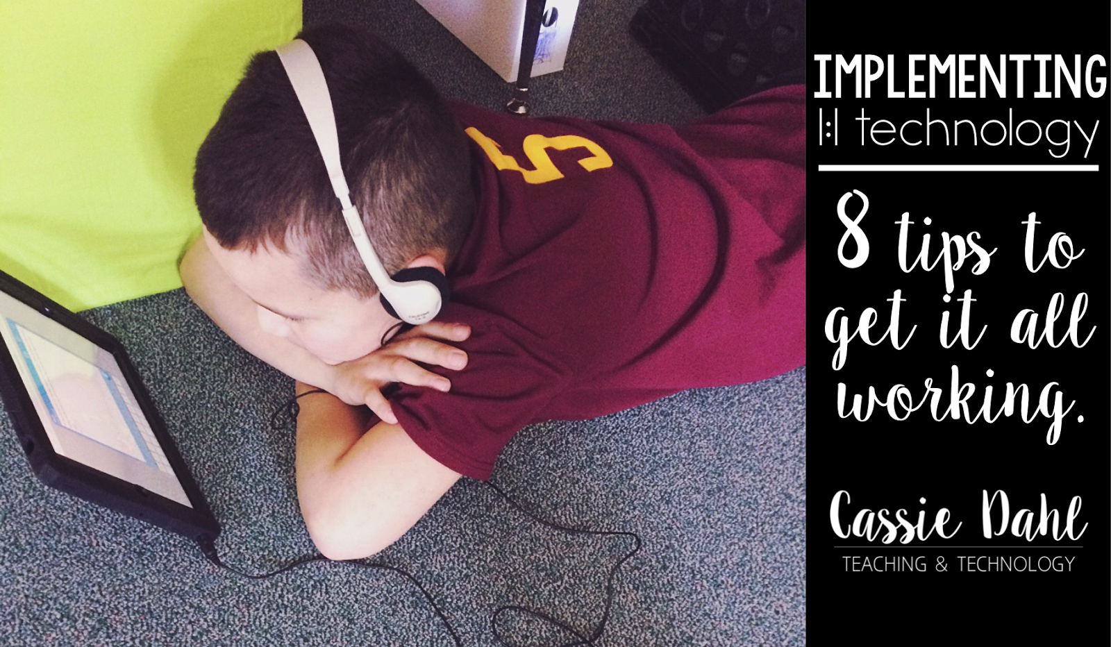 Do you have technology in your classroom? Are you struggling to figure out how to use them effectively? Are you using them just for games? Check out this post for 8 tips all about implementing devices in your classroom. Oh and there is a BONUS tip too!
