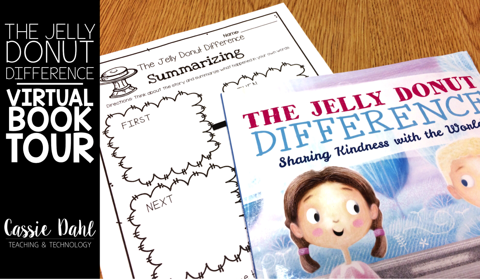 Using the picture book The Jelly Donut Difference to review sequencing and character traits!