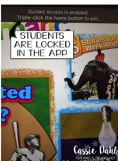 This guide will walk you through how you can lock an iPad into one app. This is perfect for when students are using iPads for cetners and you are teaching a small group, students who get easily distracted or limiting screen time for your own children!