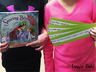 Sequencing events of a story can be hard for students. This blog post has a great activity that will engage and excite your students to practice sequencing with fairytales. It also has a free graphic organizer to guide your students with sequence of events.