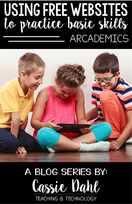 Have your students practice basic math, literacy and typing skills using a free website. This website combines academics with arcade like games! Students love it and teachers approve!