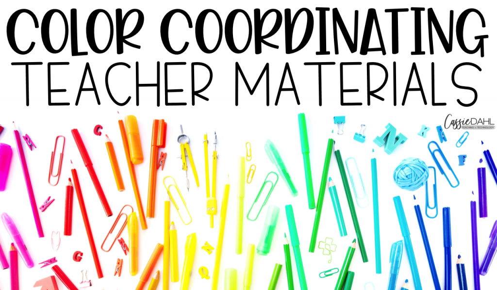 Organization is essential to have a functional classroom. Here are my top tips on how you can color coordinate your classroom to maximize your function!