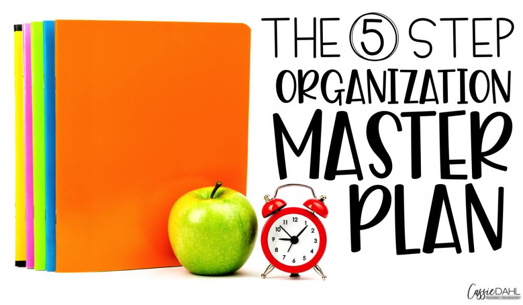 Use this simple 5 step organization master plan to control the chaos in your classroom.
