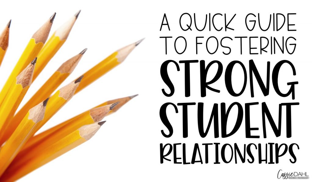 Here are some tips to building strong relationships with your students. Start the year off on the right foot with your students.