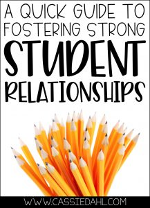 A quick guide to fostering strong student relationships.